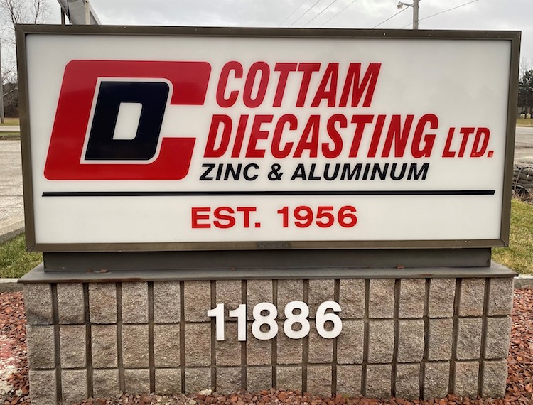 Cottam Sign